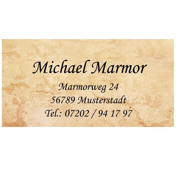 Visitenkarten Marmor 54 Stück