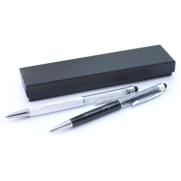 Set: Kristall-Kugelschreiber