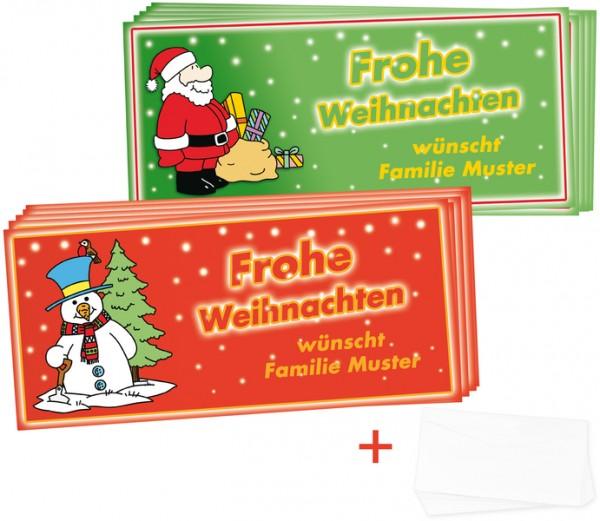 """Weihnachtskarten-Set """"modern"""", 48-tlg."""