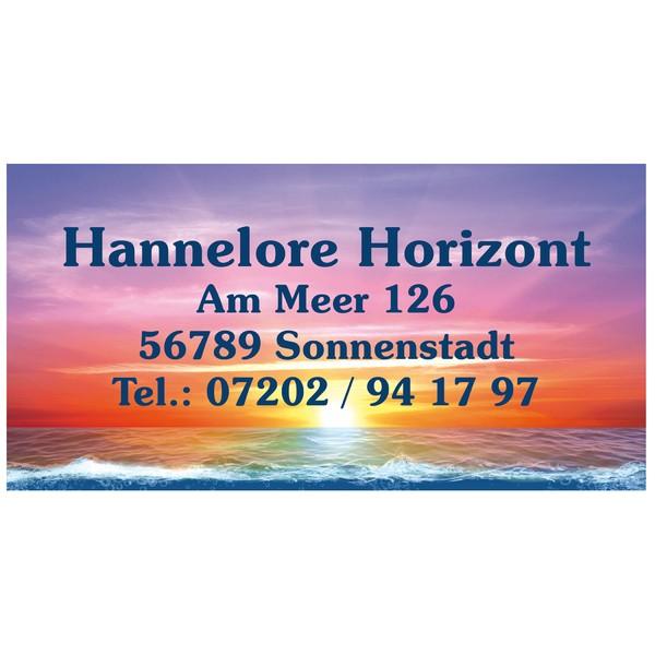 Visitenkarten Horizont 54 Stück
