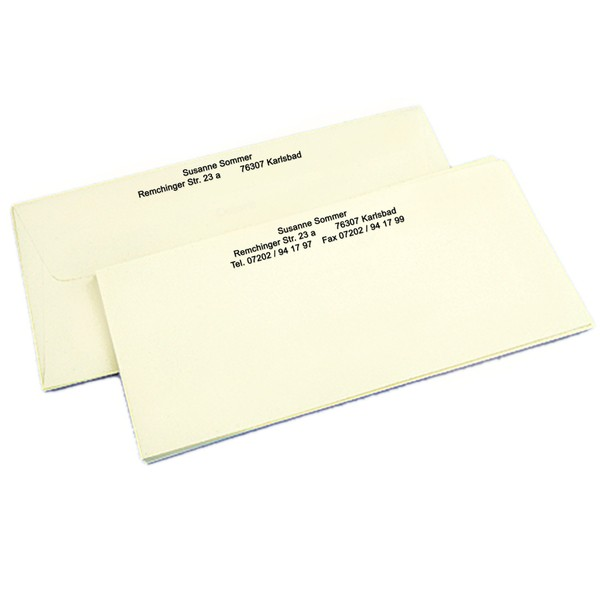 Briefkarten Elfenbein inklusive 100 Umschläge