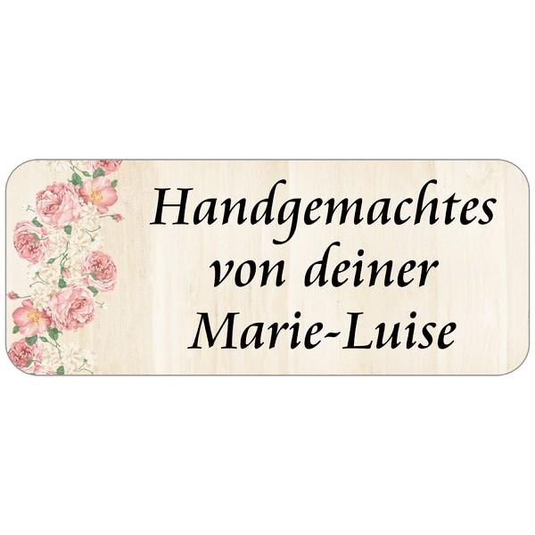 Adress-Etiketten Rosenholz 160 Stück
