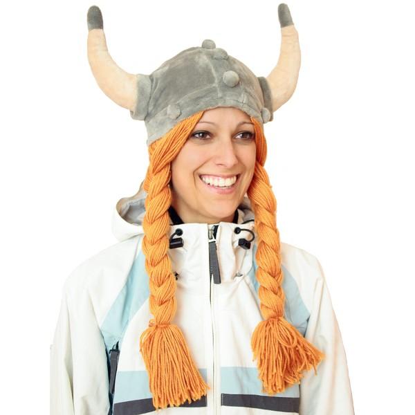 Wikinger-Mütze aus Plüsch