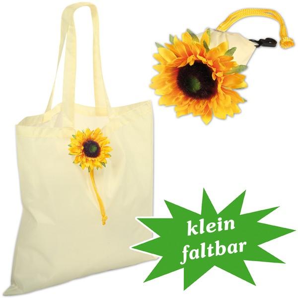 Einkaufstasche Sonnenblume, klein faltbar