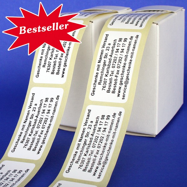 Maxi-Etiketten 200 Stück bis zu 7 Zeilen Text