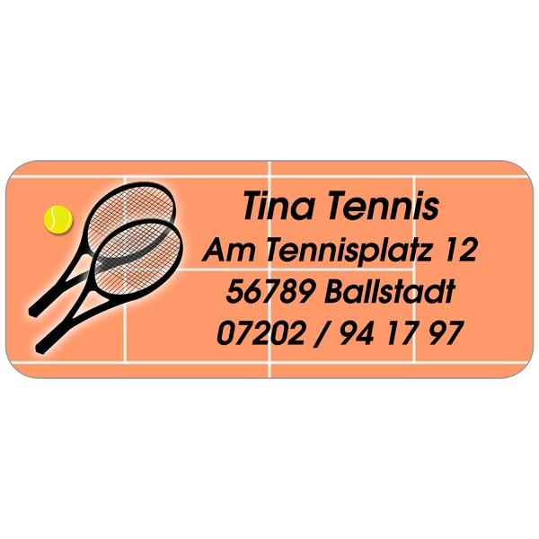 Adress-Etiketten Tennisplatz 160 Stück