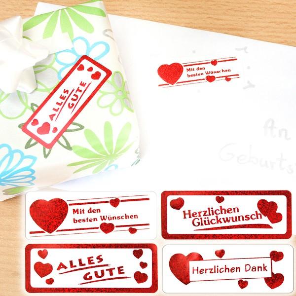 Stickers von Herz zu Herz, 4 x 50 Stück