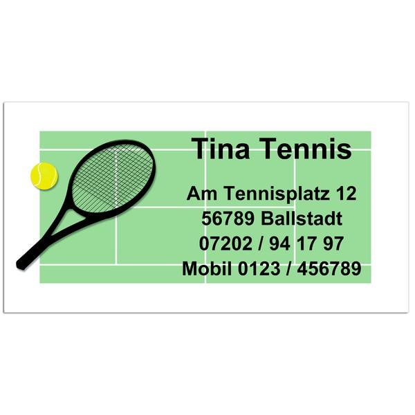 Visitenkarten Tennis 54 Stück