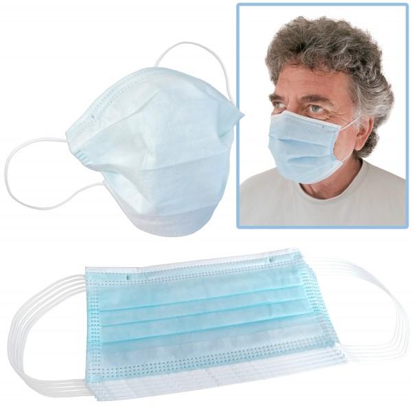 Einweg-Schutzmaske, 3-lagig aus Vliesstoff