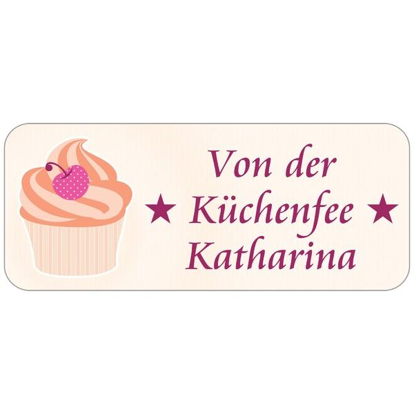 Adress-Etiketten Cupcake 160 Stück