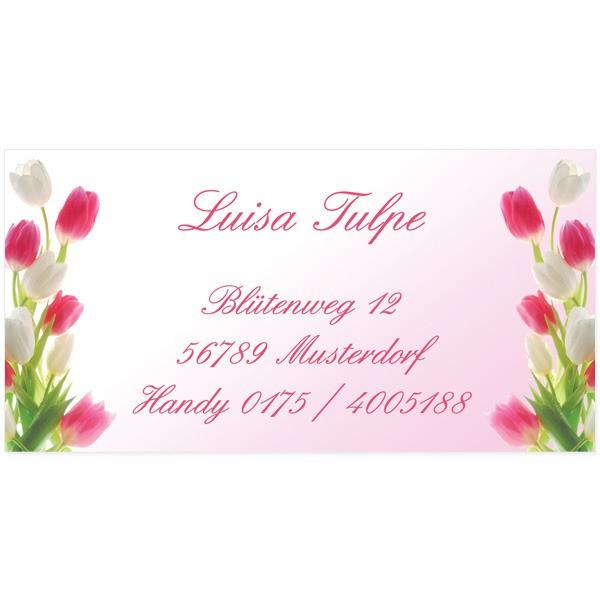 Visitenkarten Tulpen 54 Stück