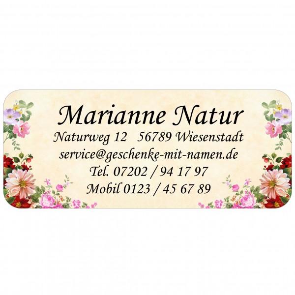 Adress-Etiketten Gartenblume 160 Stück