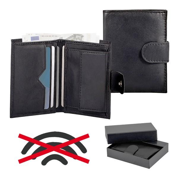 RFID-Echtleder-Geldbeutel