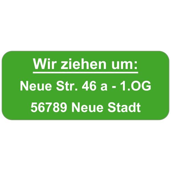 WARN-Etiketten, signalgrün 160 Stück