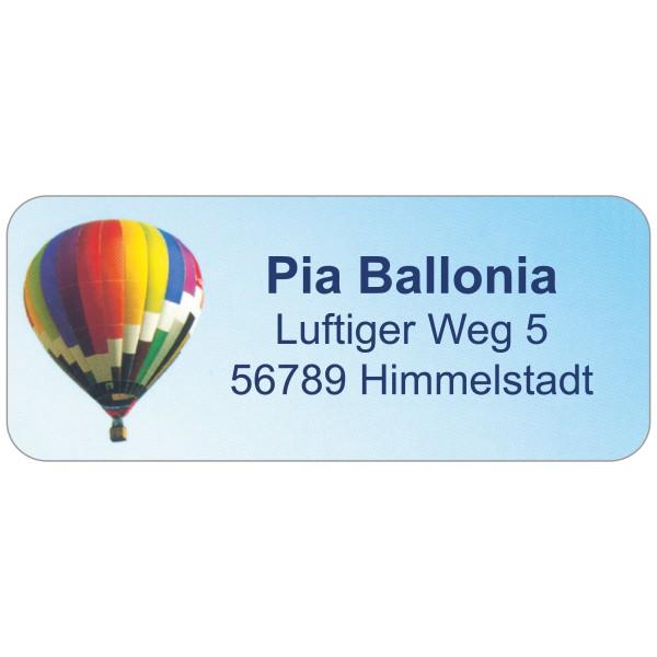 Adress-Etiketten Ballon 160 Stück