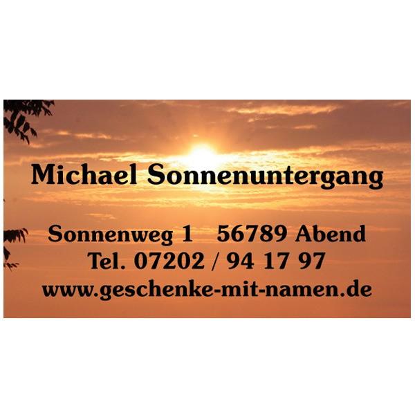 Visitenkarten Sonnenuntergang 54 Stück