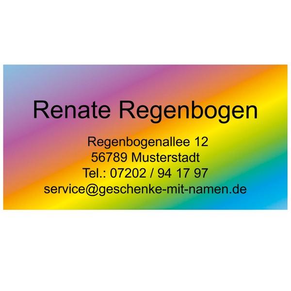 Visitenkarten Regenbogen 54 Stück