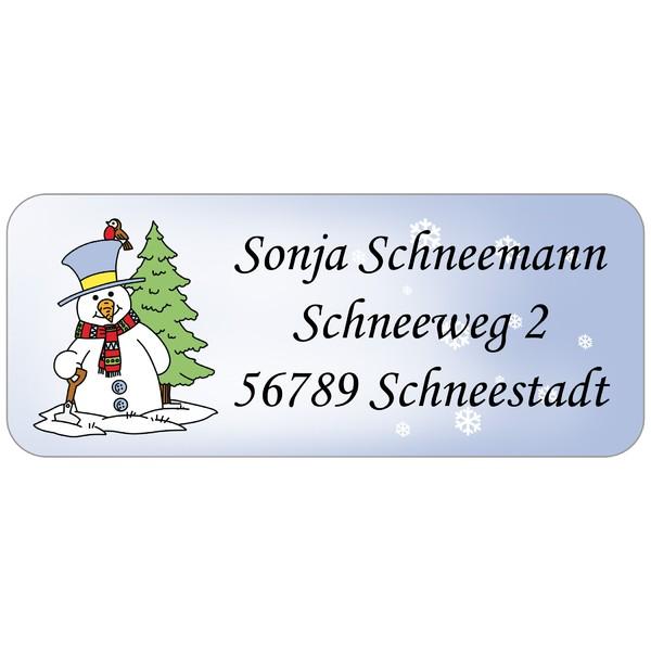 Adress-Etiketten Schneemann 160 Stück