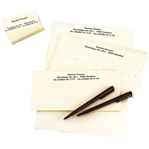 Korrespondenz-Set Elfenbein, 250-teilig