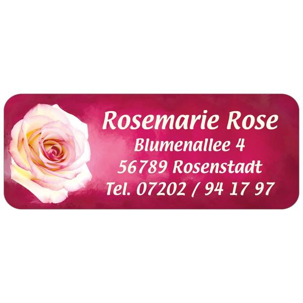Adress-Etiketten Rosa Rose 160 Stück