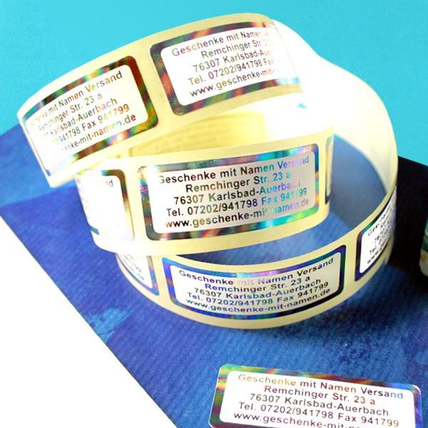 Regenbogen-Etiketten mit Wunschadresse 300 Stück