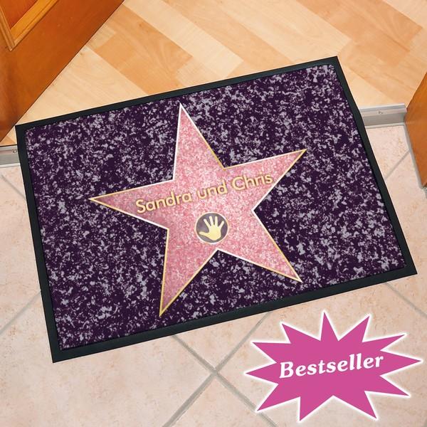 Fußmatte Walk of Fame, mit Ihrem Namen