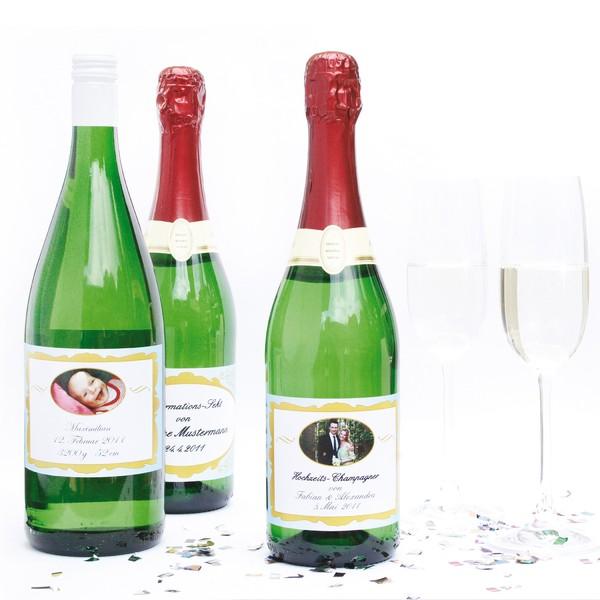 Wein-/Sektflaschen-Etiketten, 20 Stück