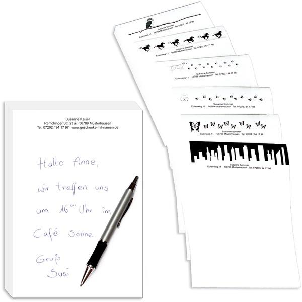 Schreibblock 200 Blatt DIN A5 mit Wunschtext