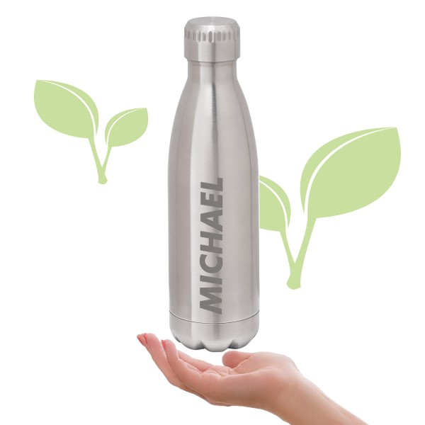 Thermosflasche Edelstahl mit Namensgravur