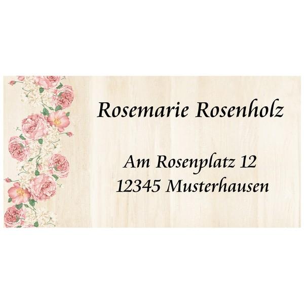 Visitenkarten Rosenholz 54 Stück