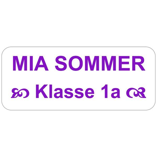 EXPRESS-Etiketten lila Schrift 160 Stück