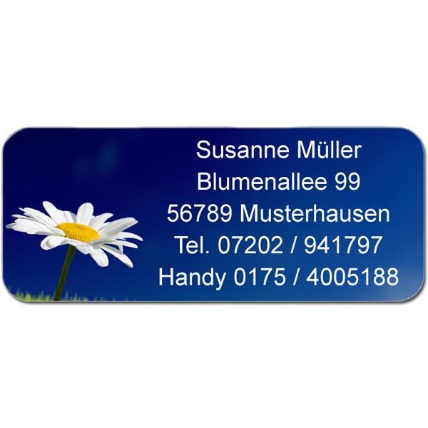 Adress-Etiketten Blume 160 Stück