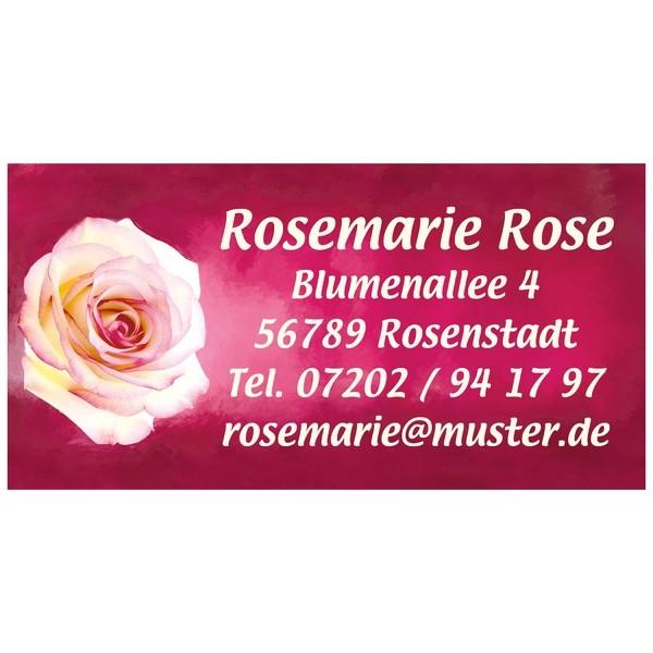 Visitenkarten Rosa Rose 54 Stück