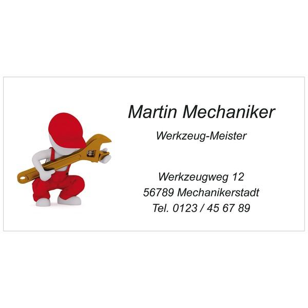Visitenkarten Mechanic 54 Stück