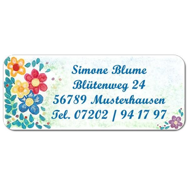 Adress-Etiketten Blüten 160 Stück