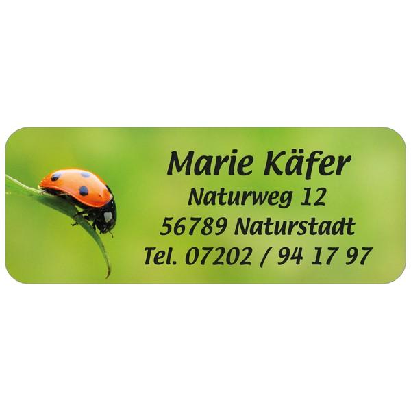 Adress-Etiketten Marienkäfer 160 Stück