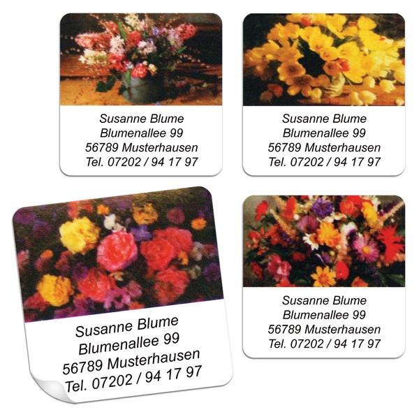 Blumengrußetiketten Sträuße 48 Stück