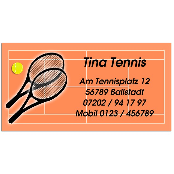 Visitenkarten Tennisplatz 54 Stück