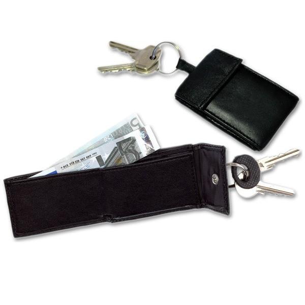 Mini-Geldbörse, mit Schlüsselring