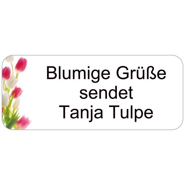 Adress-Etiketten Tulpen 160 Stück