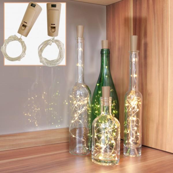 Flaschen-Lichter, 2er Set