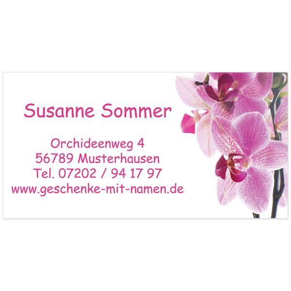 Visitenkarten Orchidee 54 Stück