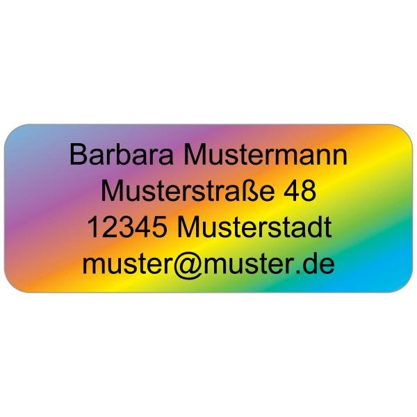 Adress-Etiketten Regenbogenfarben 160 Stück