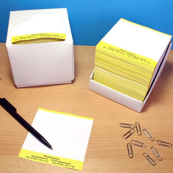 Notizen mit Wunschtext 1000 Stück in Zettelbox